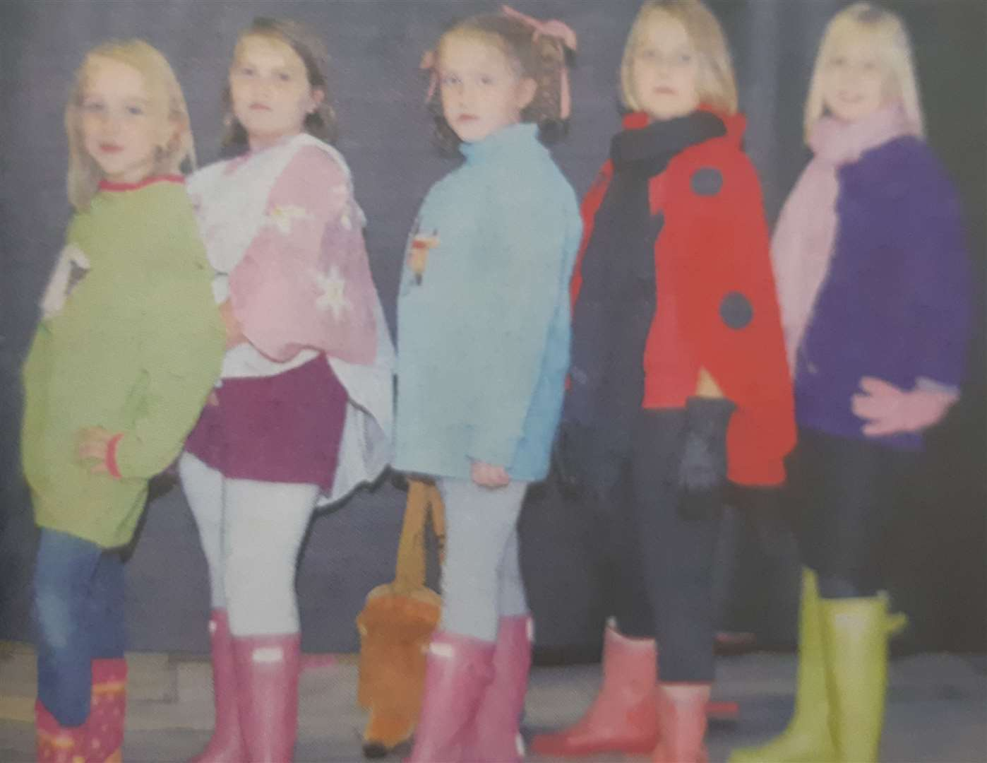 Pictured on the catwalk are Hannah Larking, Rosie Parkinson, Helen Savory, Lauren Turner and Molly Wallis. (16804886)