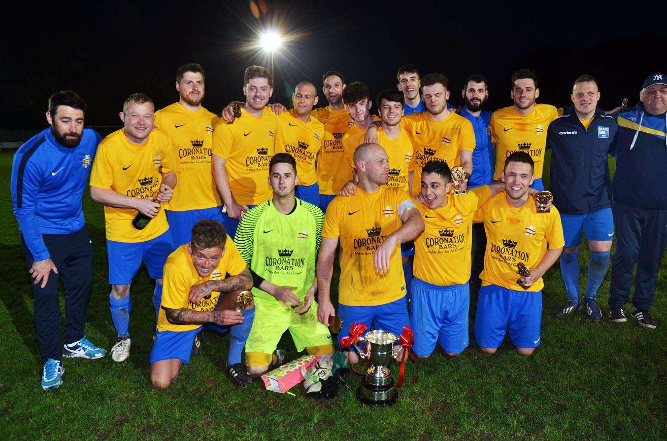 Spalding Inter-Services Trophy winners Spalding Town