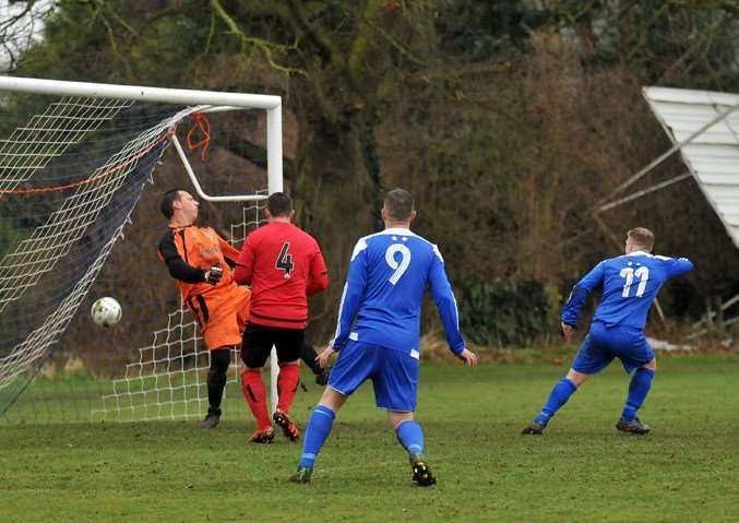 Joe Townsend (11) scores the opener