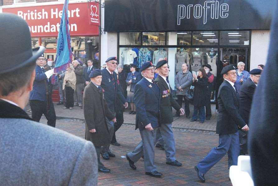 A previous Spalding Remembrance Parade.