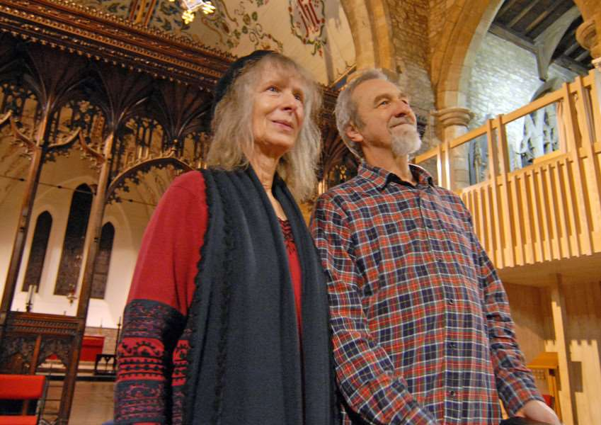 Angela King and Paul Dickinson both have songs in this year's Song For Lincolnshire final. SG251114-207TW