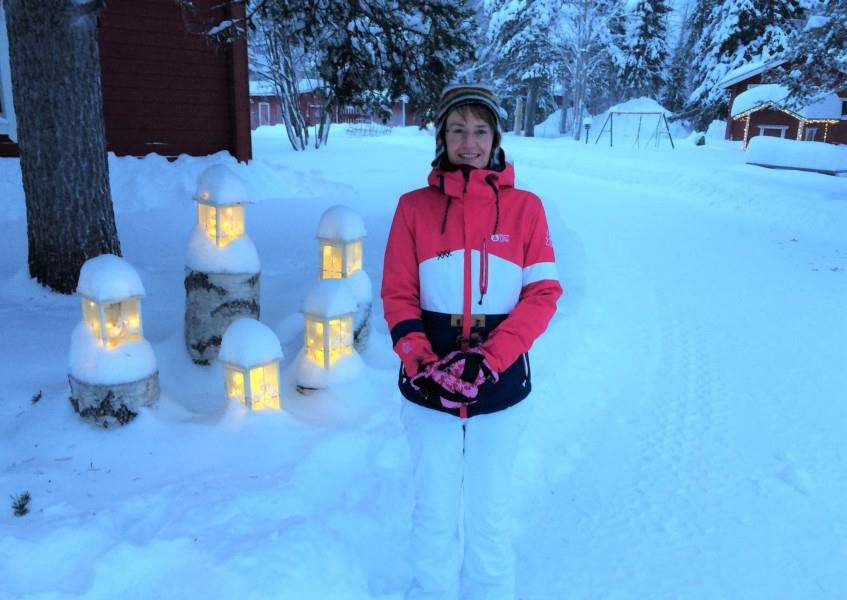 Trish Burgess in Lapland