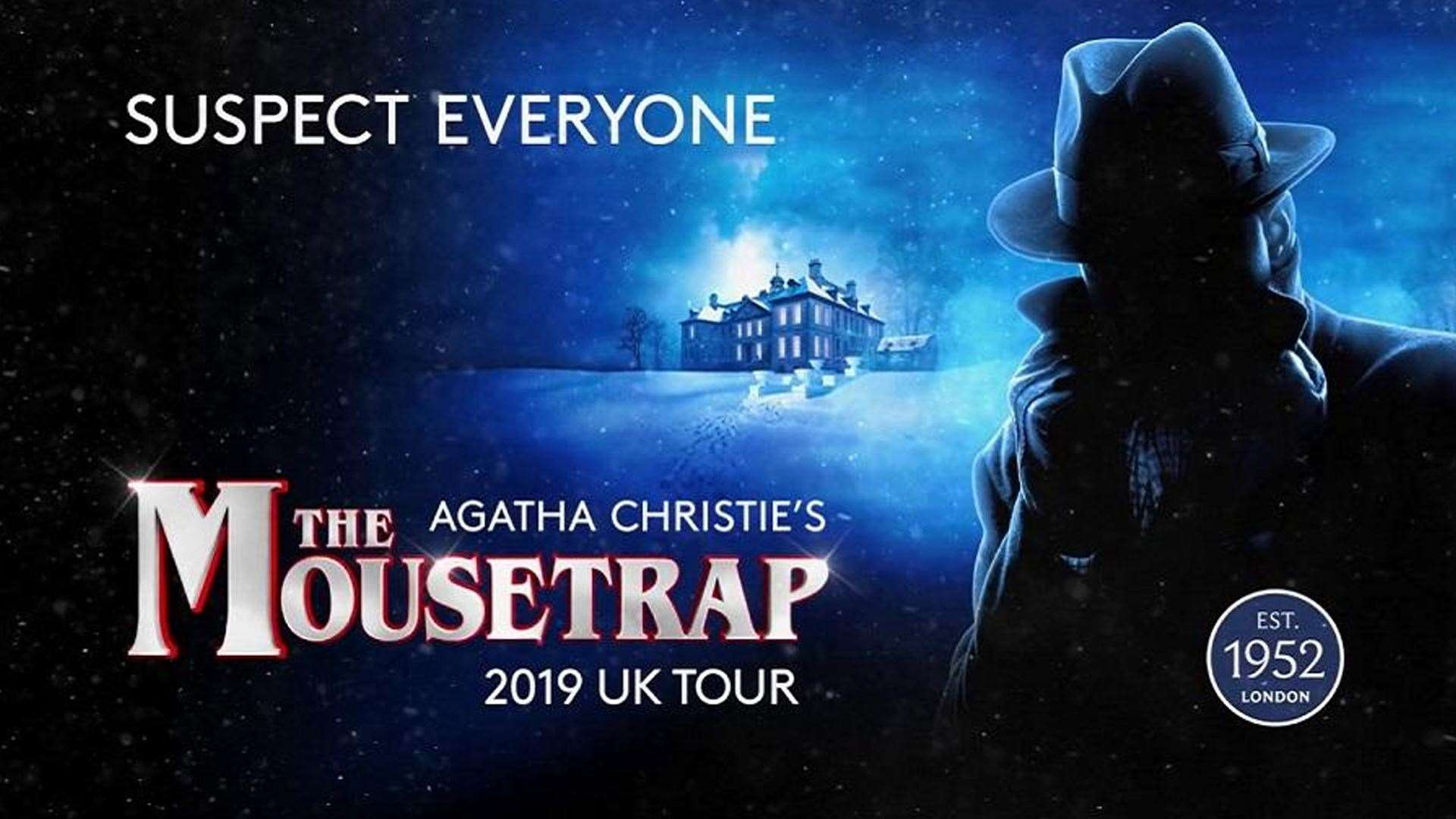 Agatha Christie's The Mousetrap is on at the New Theatre in Peterborough until Saturday.