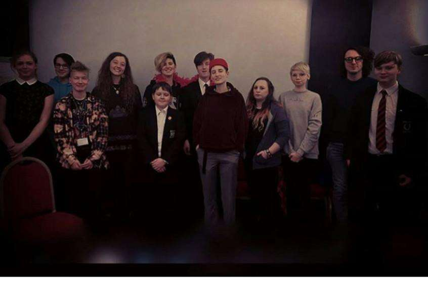 The team of young organisers behind Emerge Festival Spalding on Saturday, April 21. Photo by Carise Zangerle Murray.