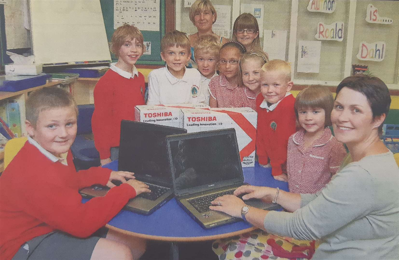 New laptops at Moulton John Harrox Primary School in 2009. (13990703)
