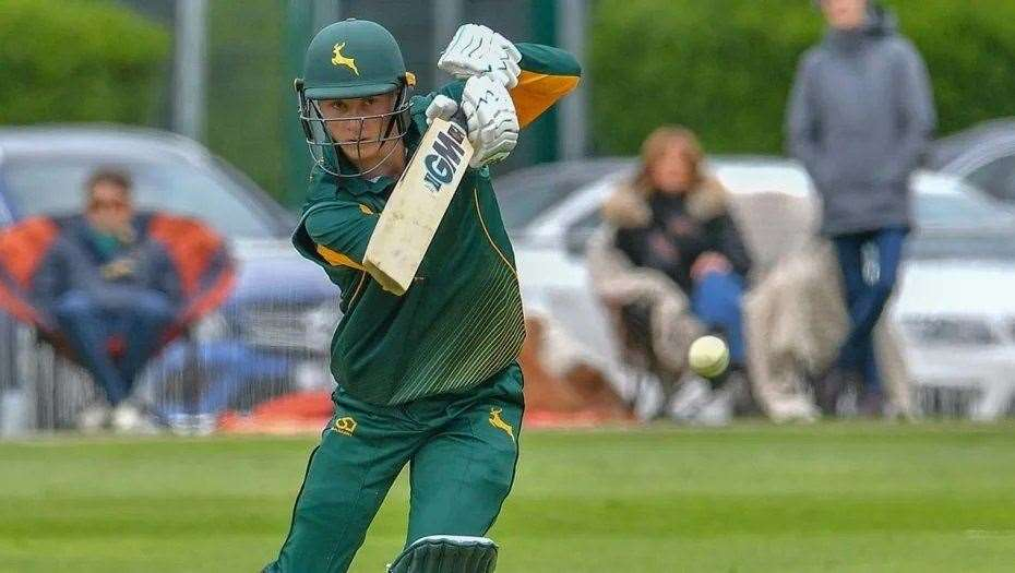 Joey Evison signed a three-year deal with Nottinghamshire County Cricket Club in September 2019.