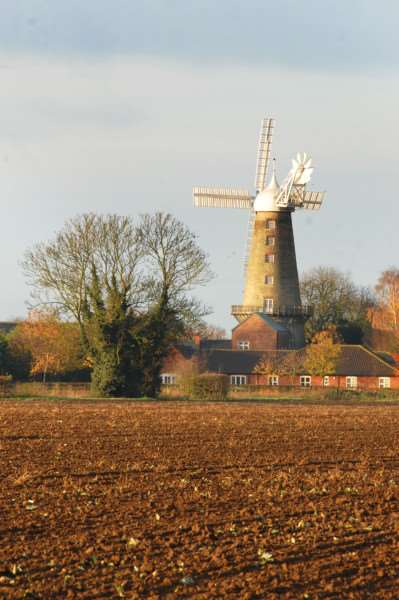 Moulton Mill on sunny autumn morning. Photo(TIM WILSON): SG231111-113TW