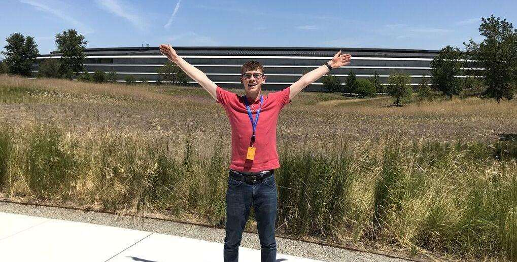 University Academy Holbeach student Jack Elms during his week-long scholarship at Apple HQ in the USA. Photo supplied. (2940002)