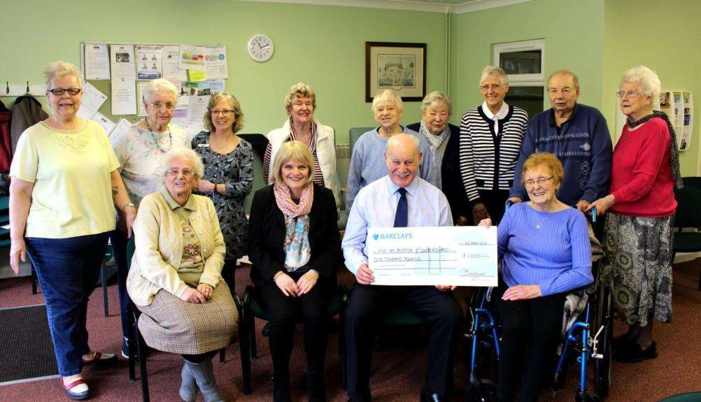 Bakkavor has presented �1,000 to Age UK's Lime Court Friday Group, based in Spalding.