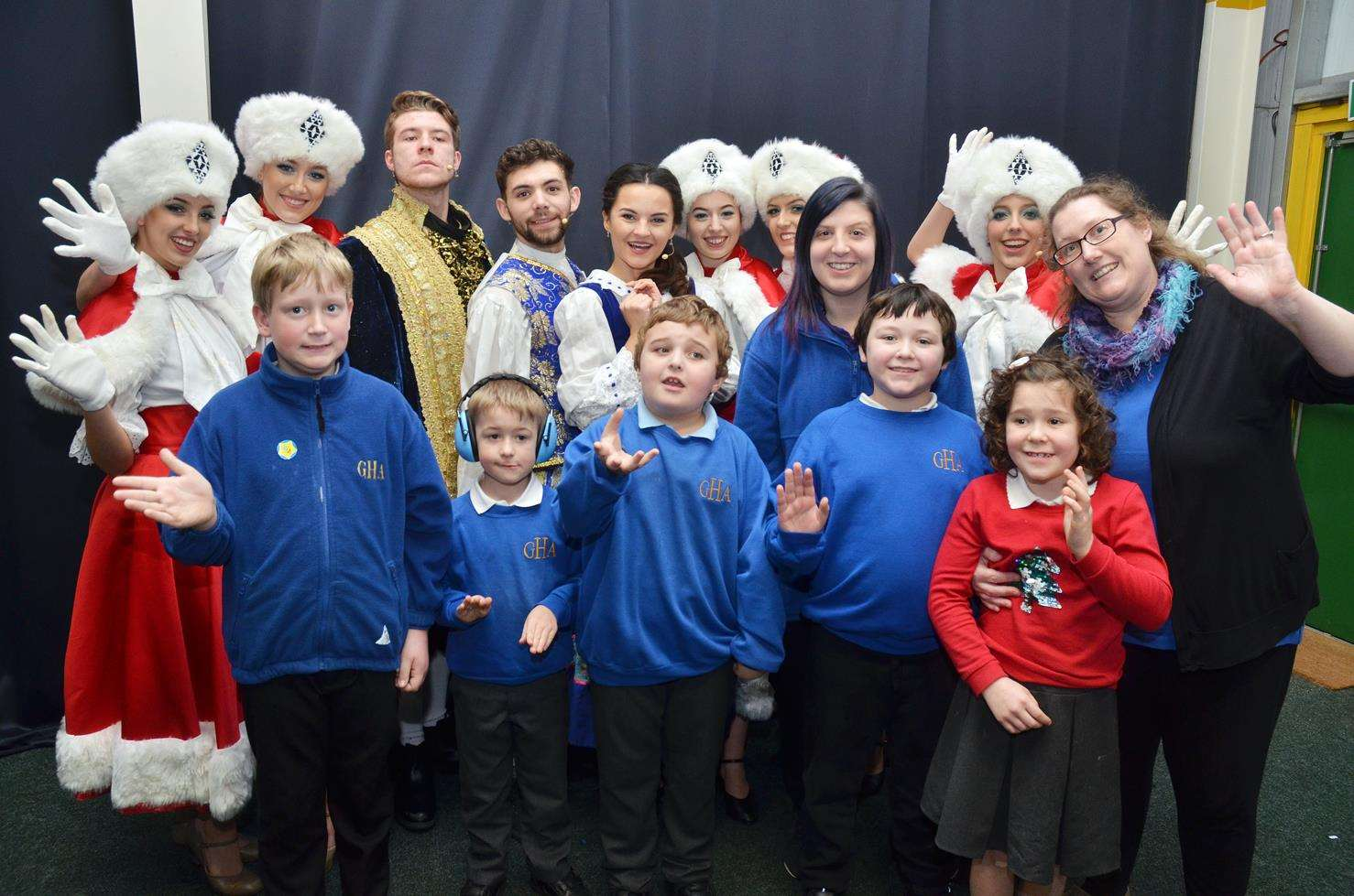 Just some of the children from Gosberton House Academy who enjoyed a visit to the panto. (6104226)