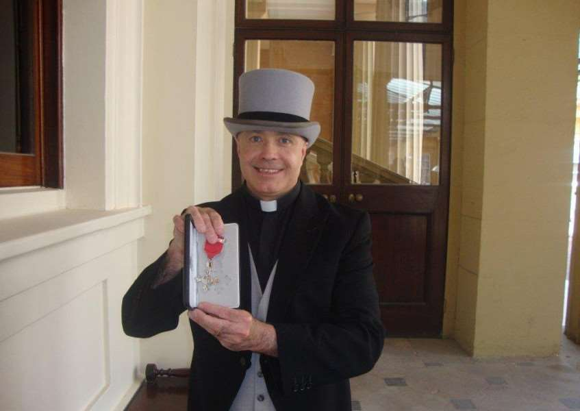 Mark Edwards with his MBE. He will be speaking at Bookmark in Spalding on March 8.
