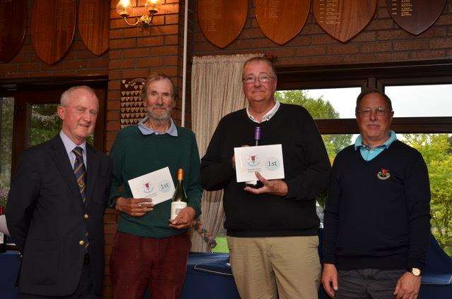 The overall winners were the Spalding pair of Mike Murphy and Nick Illingworth, pictured with seniors captain Peter Bridge and vice-captain Peter Jullien.
