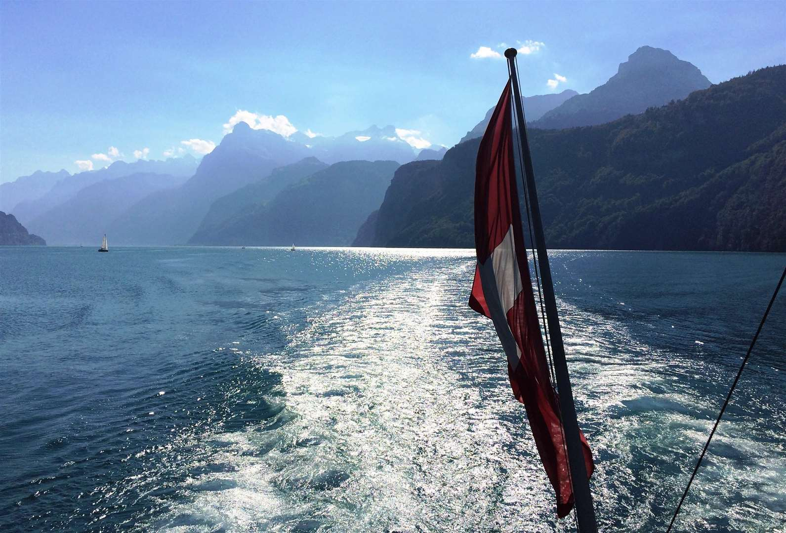 Sailing on Lake Lucerne.