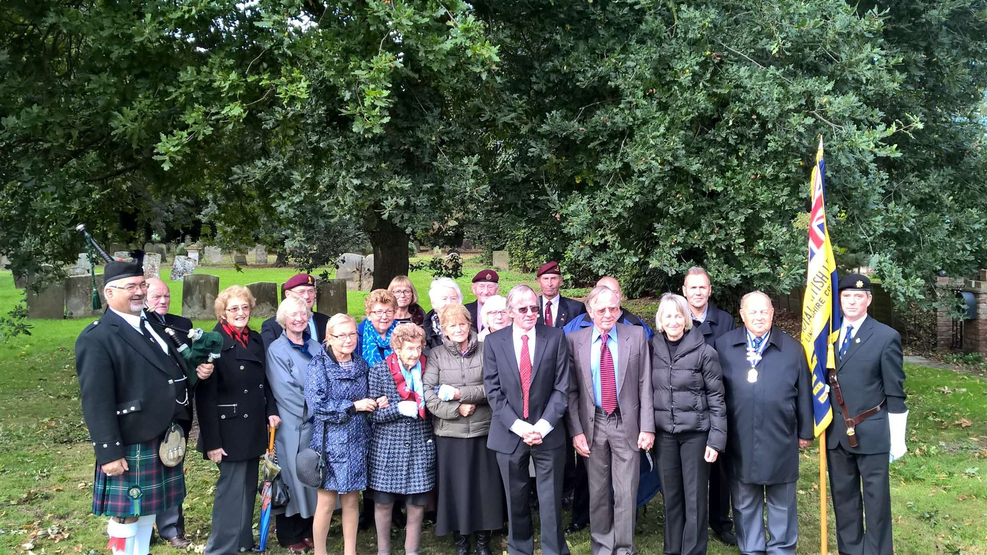 People who gathered for the parade and service at Donington church. (4506957)