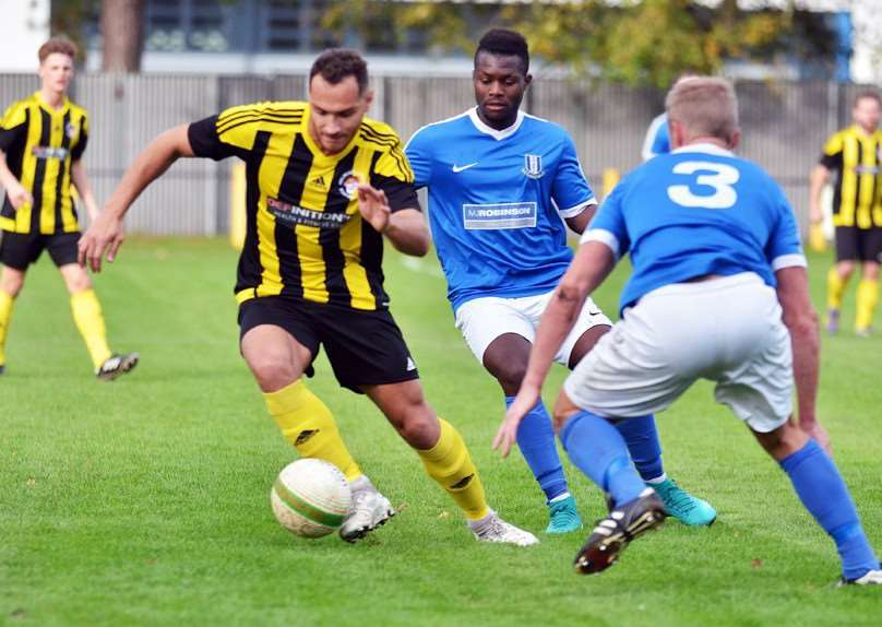 Mitch Griffiths on the attack for Holbeach