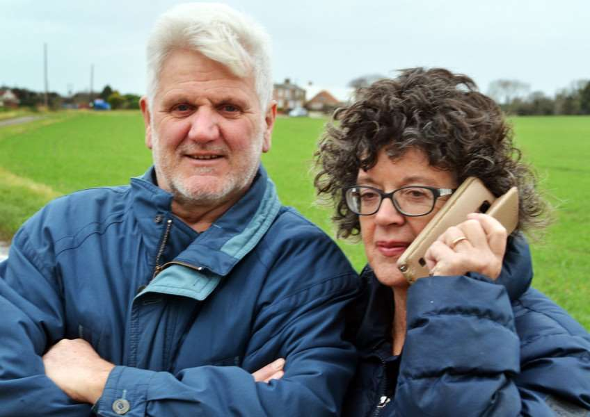 Roger and Pam Langstaff spearheaded a campaign to bring high speed broadband to Saracen's Head. SG071217-311TW