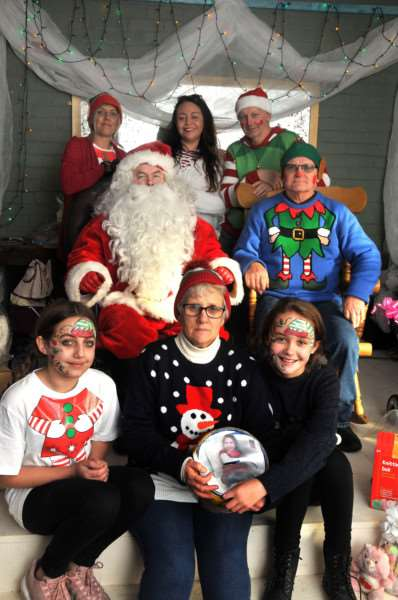 Santa Grotto at Silverwood Garden Centre, Long Sutton.'Back row: Charla Slayven, Santa, Lauryn Tyrrell, Jack Tyrrell, Peter Beeby. Front row: Ellie Slayven, Terry Beeby, Lilly-Mae Lincoln.