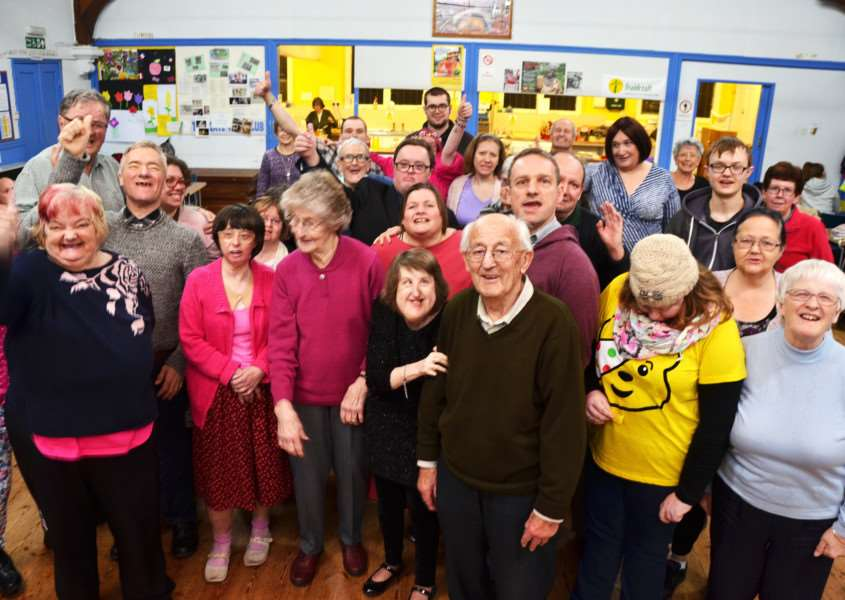 Big milestone for Spalding Mencap Gateway Club. SG171117-142TW