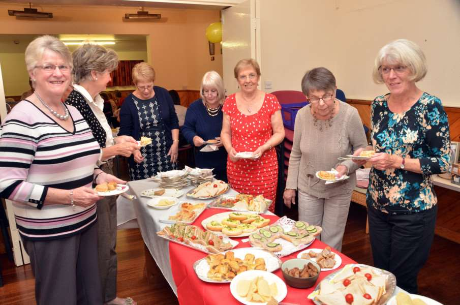 China tea party at Saracen's Head village hall.
