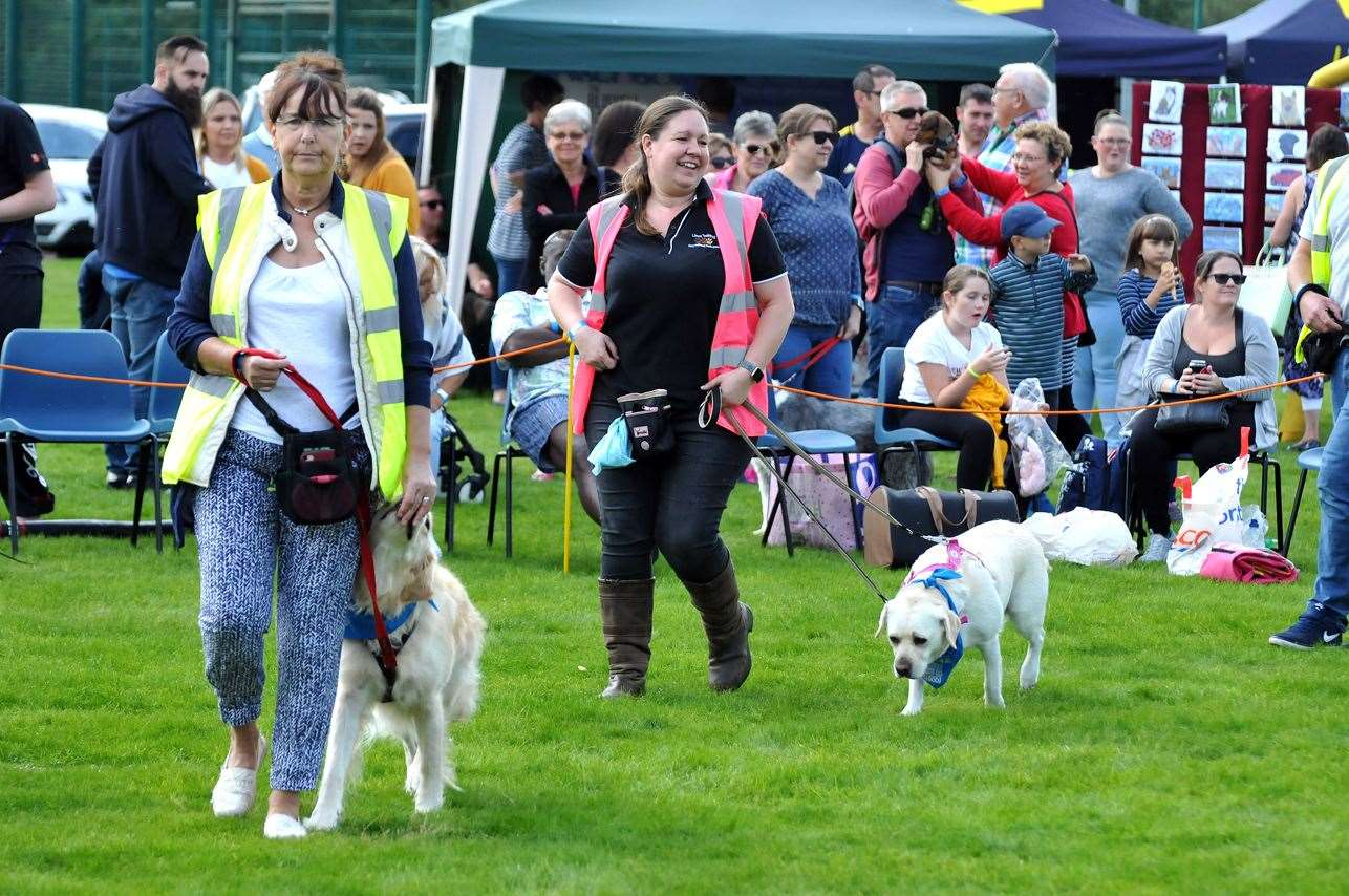 Pooches on parade as Lincs Training take to the display ring