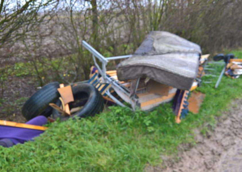 Fly tipping on South Drove. (Photo: Roger Marshall)