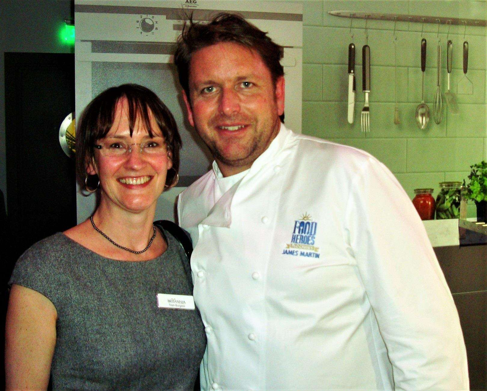 Trish with James Martin. (7062360)