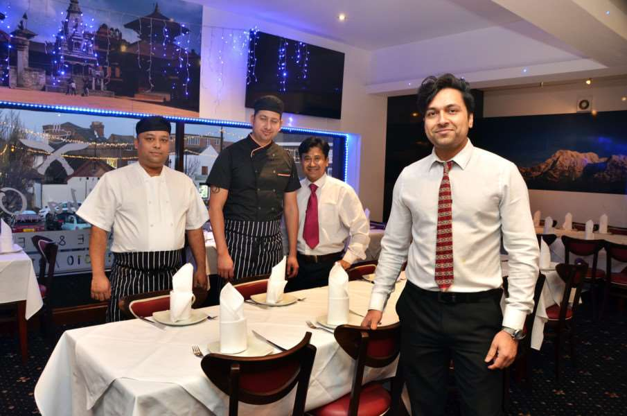 TOP TEAM: Joint owner Paul Shama (front) with, from left: Suman Khari, Ravi Acharya (joint owner/head chef) and Rasesh Rajbhandari.