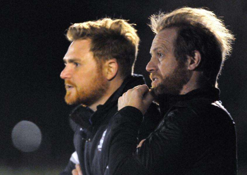 Joint managers Phil Gadsby and Jimmy McDonnell