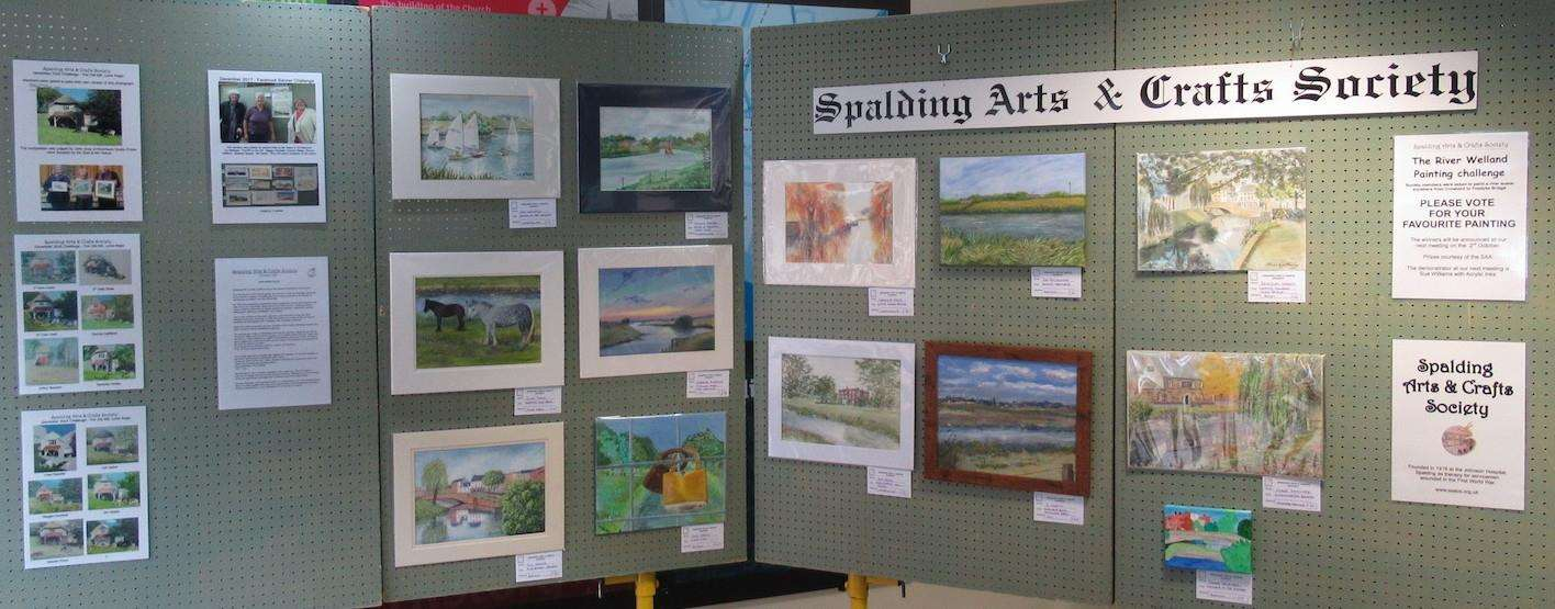 Spalding Arts & Crafts Society is inviting people to vote for their favourite piece of artwork depicting the River Welland anywhere between Crowland to Fosdyke Bridge. The display is in Spalding Library until September 28. Photo supplied by SAACS. (4154658)