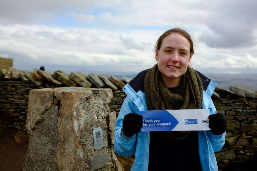 Lachan Read, who completed the The Yorkshire Three Peaks Challenge