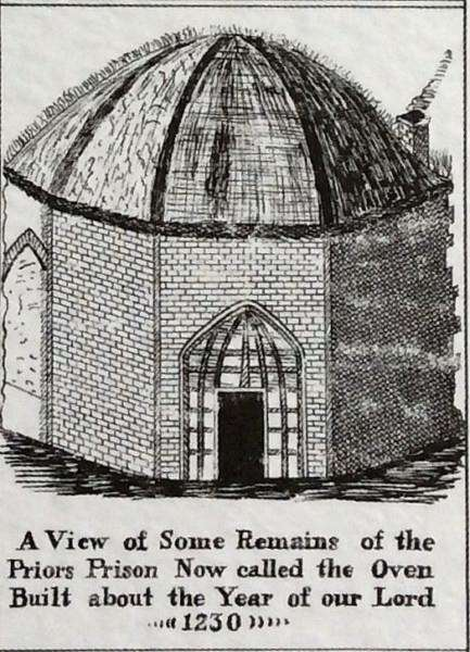 An old illustration of the 'Prior's Oven'