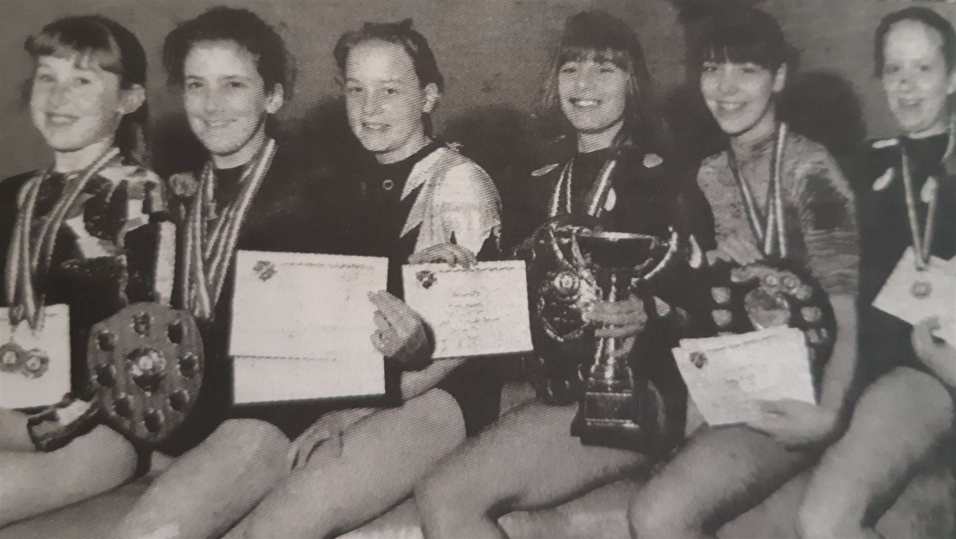 Holbeach and Fenland gymnasts in 1995. (33978471)