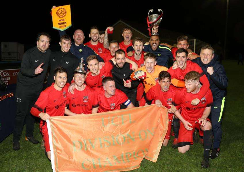 Pinchbeck were crowned champions at Thrapston