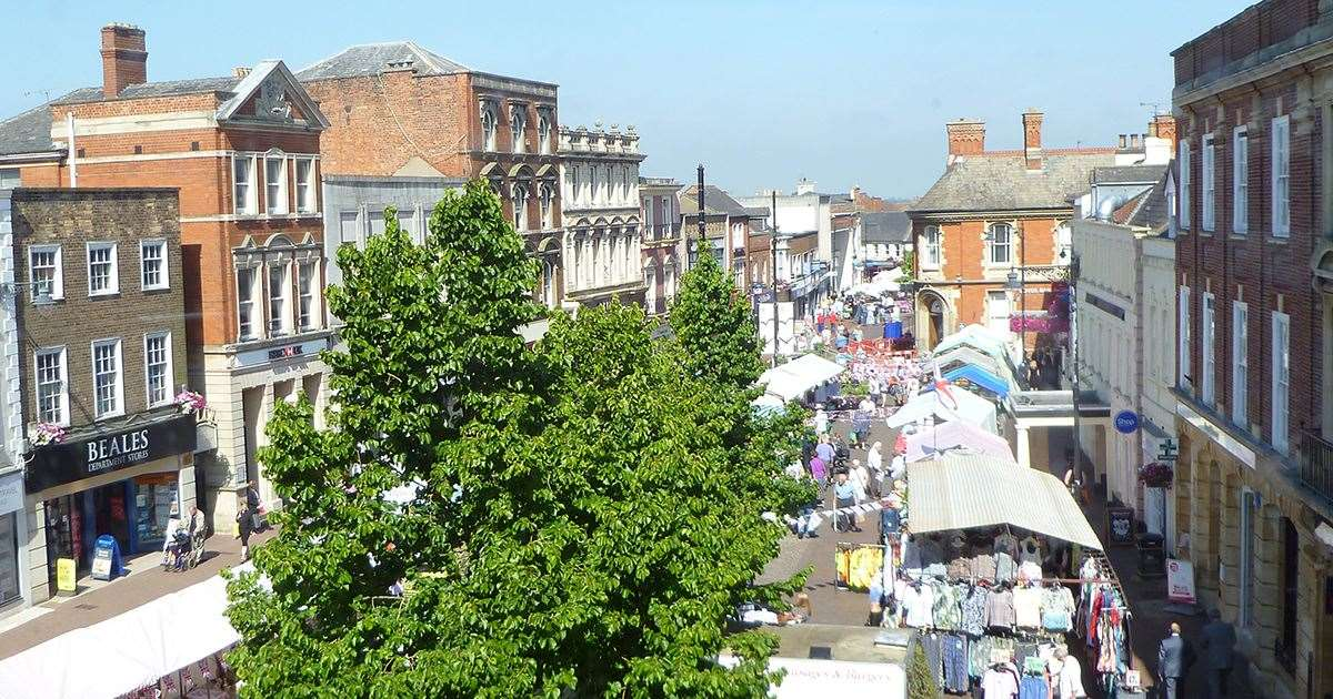 Spalding town centre on market day.Photo supplied by South Holland District Council. (7091001)