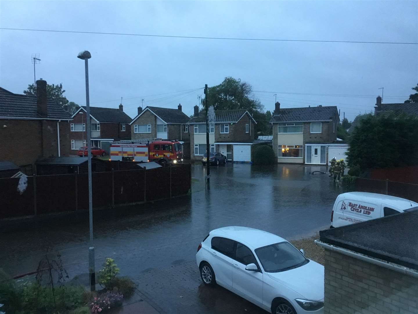 Spalding's Wentworth Close saw flooding in June following heavy rain