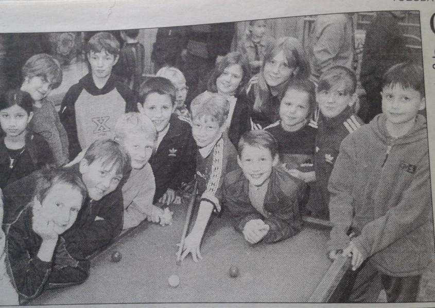 West Pinchbeck Primary games night in 1999.