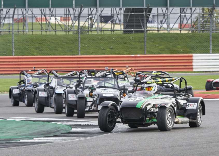 Andy Molsom leading his class at Silverstone. Photo: Chris Dicken