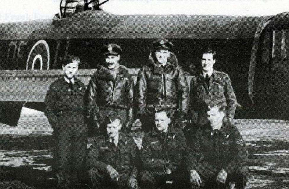 The crew of the Lancaster, whose lives are commemorated in Cloot Drove. (46073149)