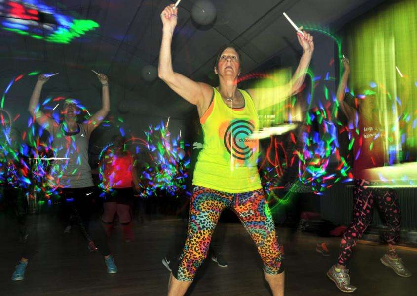 Fitness Clubbercise style at the WI Hall in Holbeach. Photo (TIM WILSON): SG080418-114TW