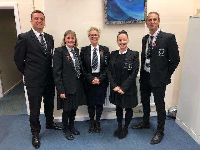 The leadership team at Spalding Academy dressed in school uniform for Children In Need (5476020)