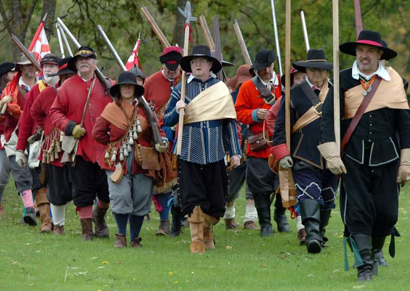 The Sealed Knot will be re-enacting the 1643 Siege of Crowland Abbey next weekend. Photo by Lucy Ford.