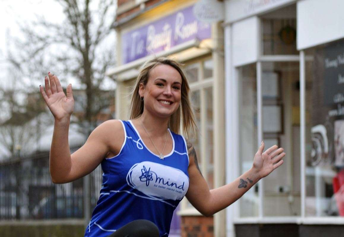 Heidi Willson in training to raise marathon money for MIND