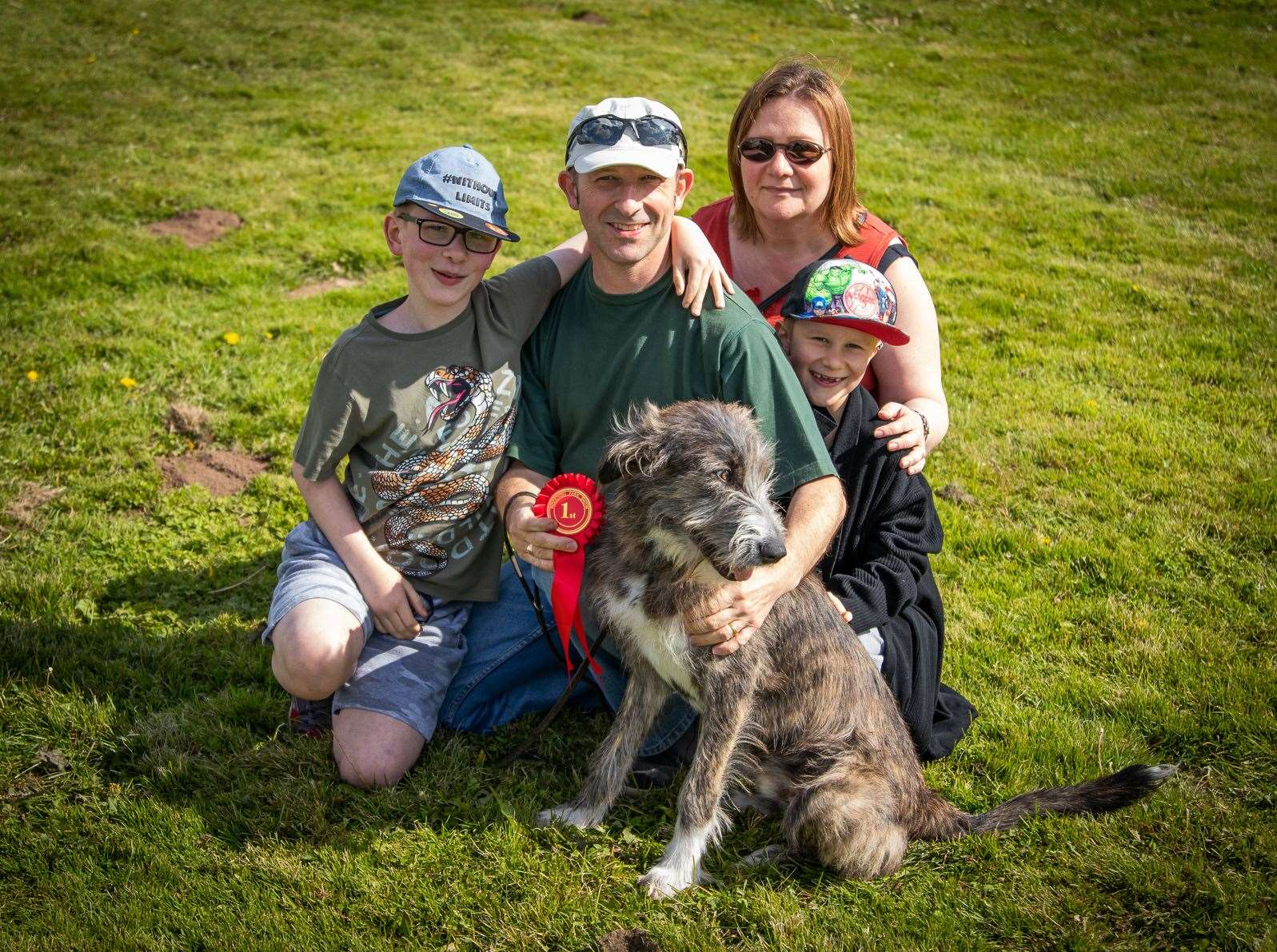 The Briggs family with Romanian rescue puppy Harry. (16500992)
