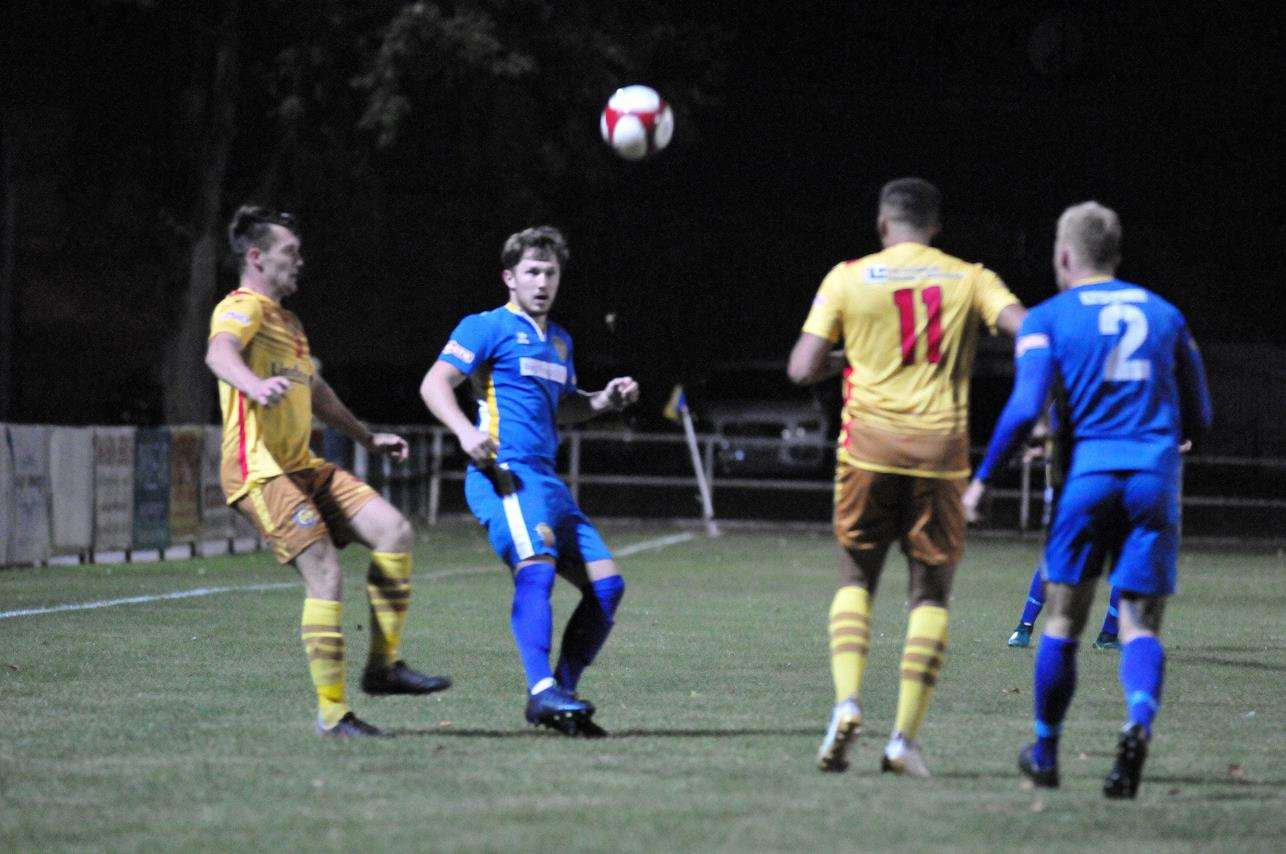 Action from last week's 2-2 draw between Spalding United and Carlton Town last week.